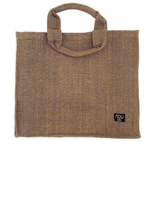 cotton linen shopper bag